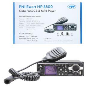Statie radio CB si MP3 PNI Escort HP 8500 ASQ include casti cu microfon HS81 si HS71