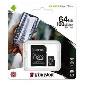 Card de memorie MicroSD Canvas Select Plus, 64GB, 100MB/s, cu adaptor