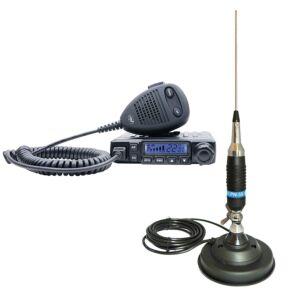 Pachet Statie radio CB PNI Escort HP 6500 ASQ + Antena CB PNI s9