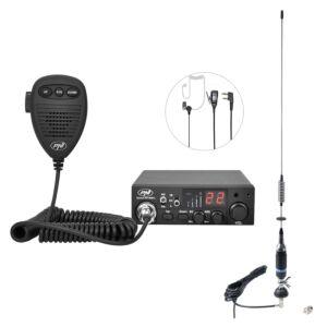 Pachet statie radio CB PNI ESCORT HP 8001L ASQ + Antena CB PNI S75 cu cablu si montura fixa